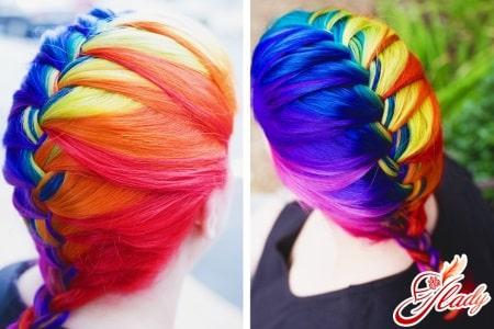 Оригинальное цветное глазирование волос