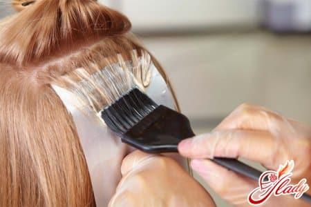 Мелирование волос при помощи фольги