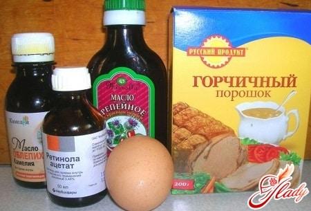 ингредиенты для горчичной маски