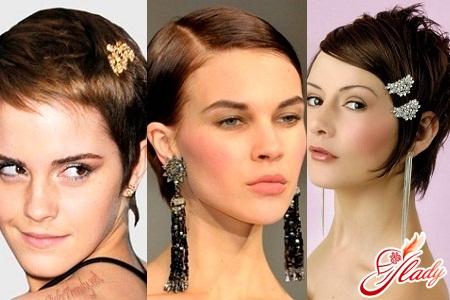 праздничные причёски для средних и коротких волос