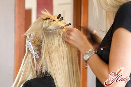 технология наращивания волос лентами