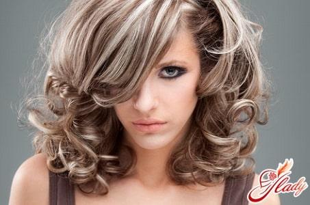 красивое мелирование темных волос