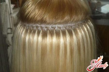 до и после нарощенные волосы