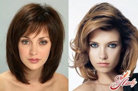 объемные укладки средних волос