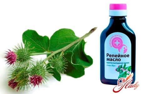 Репейное масло для пилинга кожи головы