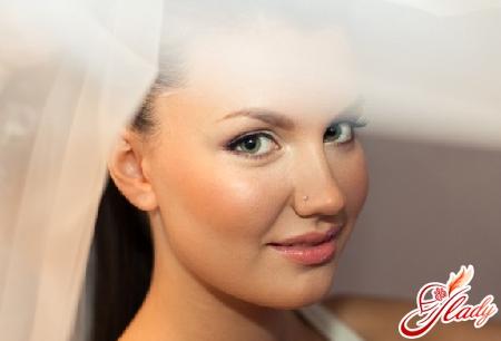 легкий свадебный макияж для зеленых глаз