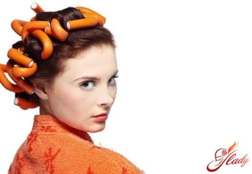 завивка волос на гибкие бигуди